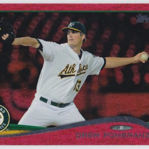 2014 Topps Update Red Sparkle Drew Pomeranz