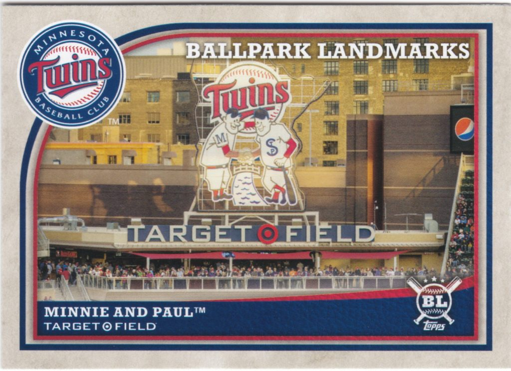 2018 Topps Big League #355 Ballpark Landmarks Minnie and Paul
